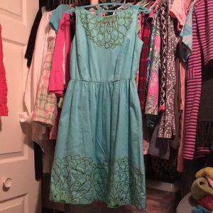 Lilly Pulitzer Blue Golden Lotus Dress Sz 6